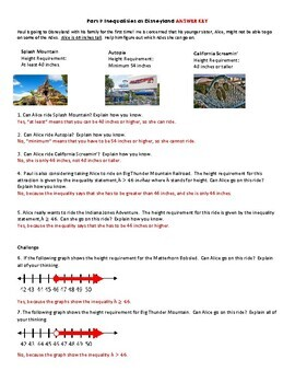 Writing and Graphing Inequalities Task and Notes