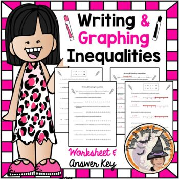 Writing and Graphing Inequalities from Real World Situations Practice Worksheet