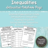 Writing, Graphing, and Solving Inequality Notes