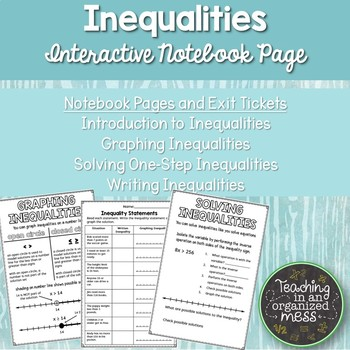Solving Inequalities Notes Teaching Resources | Teachers Pay Teachers