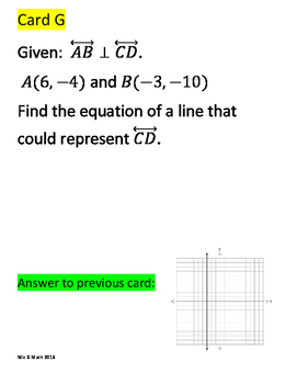 Writing and Graphing Linear Equations Scavenger Hunt