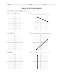 Writing and Graphing Linear Equations Worksheet