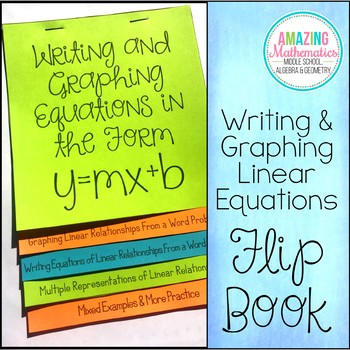 Writing and Graphing Linear Equations in the Form y=mx+b Flip Book