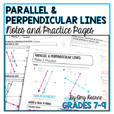 Writing and Graphing Parallel and Perpendicular Lines Guided Notes