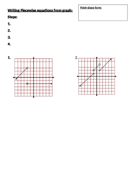 Writing and Graphing Piecewise functions guided notes