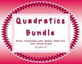 Quadratic Functions - Bundled Notes, Games, Labs, Study Gu