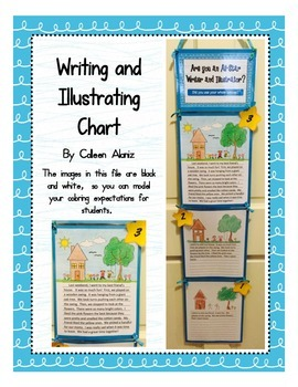 Writing and Illustrating Chart (Blue)