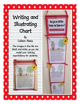 Writing and Illustrating Chart (Red)