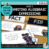 Writing Algebraic Expressions- Math Center Activity and Pr