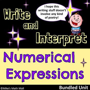 Write and Interpret Numerical Expressions - (Mini Bundle)