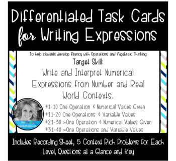 Writing and Interpreting Numerical Expressions-Differentia