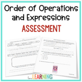 Writing and Interpreting Numerical Expressions Test