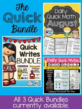 Quick Write and Quick Math Bundle