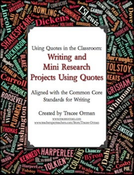 Writing and Mini Research Activities Using Quotes