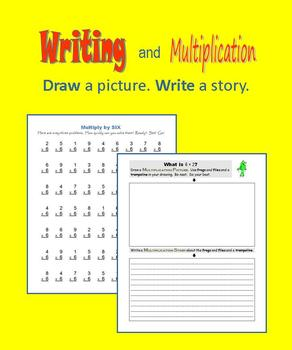 Writing and Multiplication:  Draw a picture.  Write a story.