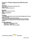 Writing and Name for February Checkpoint Teaching Strategies GOLD® Lesson Plan
