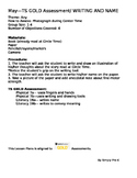 Writing and Name for May Checkpoint Teaching Strategies GOLD® Lesson Plan