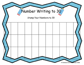 Writing and Ordering Numbers to 30