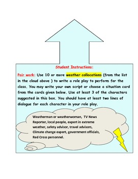 Writing and Performing Role Plays Using Weather Collocations