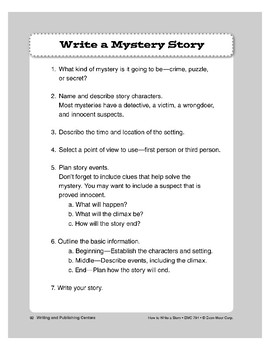 Writing and Publishing Centers: Charts/Different Genres