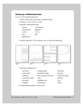Writing and Publishing Centers: Teacher Overview