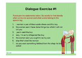 Writing and Punctuating Dialogue Powerpoint