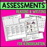 Writing and Reading Assessments Kindergarten BUNDLE