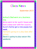 Writing and Reading Class News