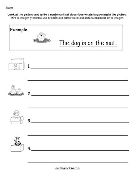 Writing and Reading Comprehension Worksheet for Kindergarten and 1st Grade