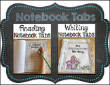 Writing and Reading Notebook Tabs
