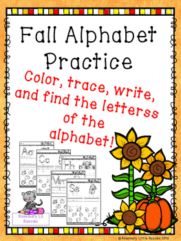 Writing and Recognizing the Alphabet or ABC's Fall Edition