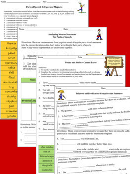 Writing and Revising Sentences Package