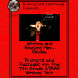 STAAR 7th Grade Writing and Revision Review:  Prompts and