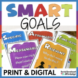 SMART Goals: Goal Setting Lessons & Activities Print & Digital