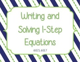 Writing and Solving 1-step Equations 6.EE.5, 6.EE.7