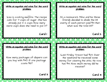 Writing and Solving 2-Step Equations from Word Problems