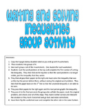 Writing and Solving Algebraic Inequalities Group Activity