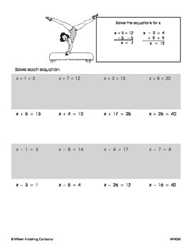 Writing and Solving Equations (CCSS 6.EE.B.7)
