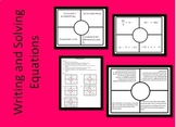 Writing and Solving Equations Placemat Activity