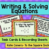 Writing and Solving Equations Task Cards