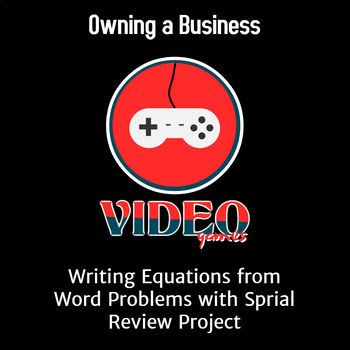 Equations and Percent Word Problems Differentiated Spiral Business Project
