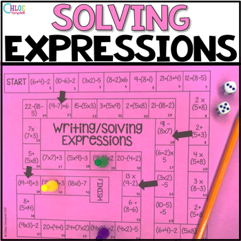 Writing and Solving Expressions Board Game