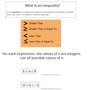 Writing and Solving Inequalities