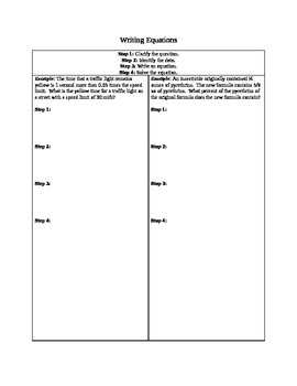 Writing and Solving Linear Equations