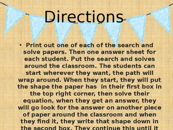 Writing and Solving Multi-Step Equations Search and Solve