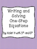 Writing and Solving One Step Equations