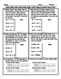 Writing and Solving One-Step Equations Word Problem Practice PLUS Spiral Review