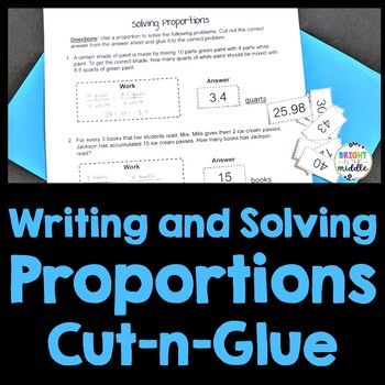Writing and Solving Proportions - Cut-and-Paste Worksheet