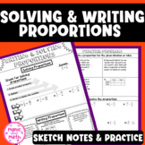 Writing and Solving Proportions Sketch  Notes