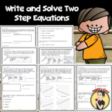 Writing and Solving Two Step Equations